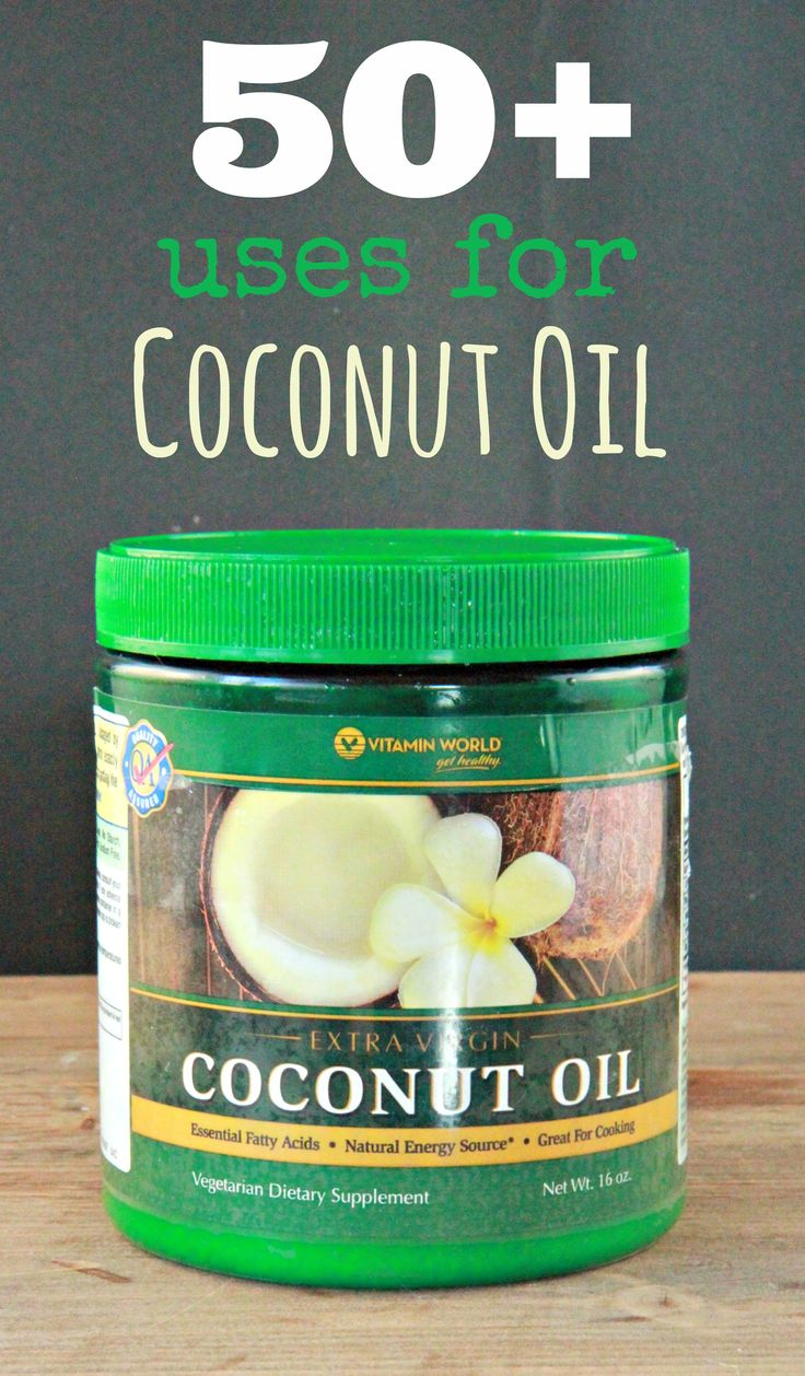 Uses for Coconut Oil:  50+ Unique Ideas Uses for Coconut Oil:  Consumable Coconut oil can be used in cooking and baking (a good replacement for any vegetable oils).  It's a good oil for deep frying...