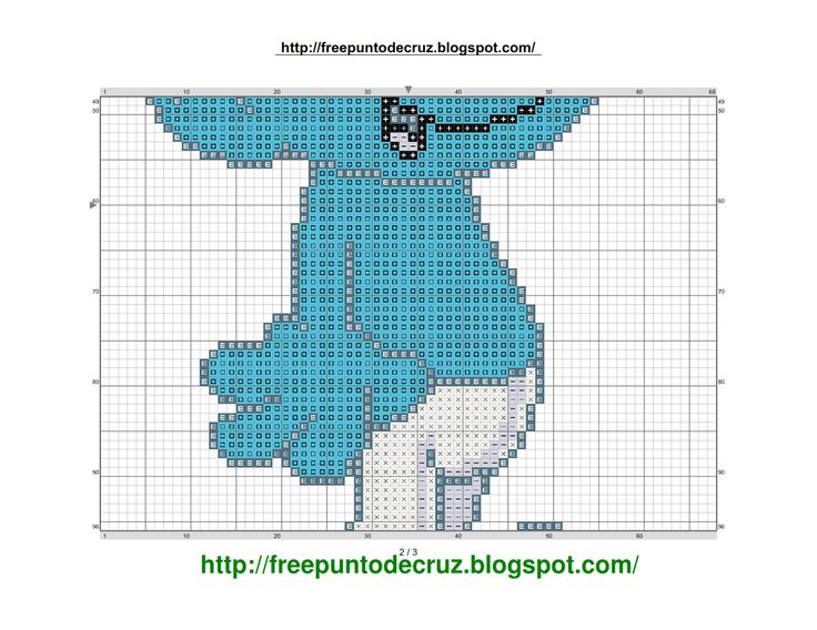 Clumsy Smurf Cross Stitch Pattern  Pitufo tontin punto de cruz Clumsy Smurf Cross Stitch Pattern - Pitufo tontin punto de cruz Clu...