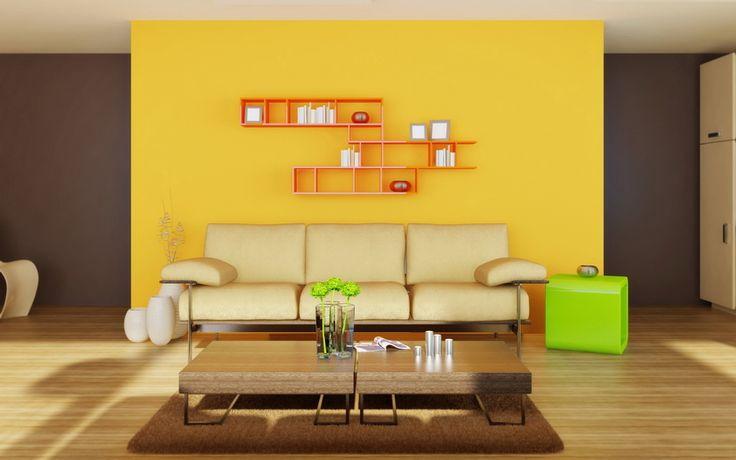 яркая комната, минимализм