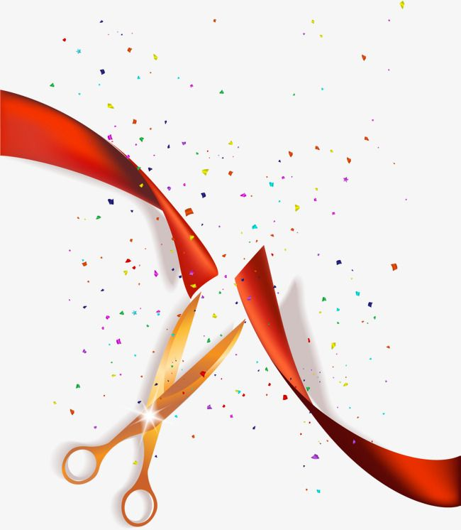 Hand Painted Red Ribbon Scissors Red Ribbon Banner Background Images Gold And Black Background