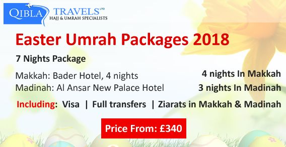 #EasterUmrahPackage #UmrahinEaster2018 Performing Umrah on the occasion of Easter from United Kingdom. We offer Easter Umrah Package for UK citizens at reasonable rates.  Call Us: 020 3208 0000