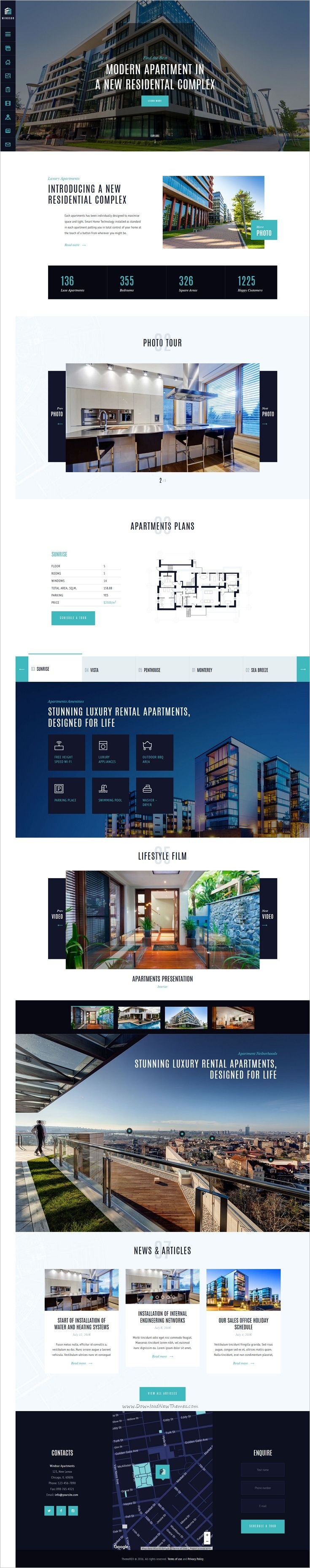 Windsor is a wonderful responsive #HTML theme splendid solution for #realestate agencies online presentation of a newly built #apartment complex, office center or a house websites download now➩ https://themeforest.net/item/windsor-apartment-complex-single-property-site-template/18939023?ref=Datasata