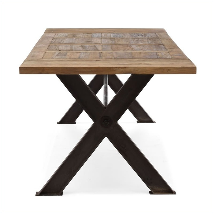 Zuo Era Haight Ashbury Dining Table In Distressed Natural