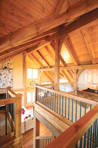 Interior Timber Frame Homes Photo Gallery - Blue Ox Timber Frames - Audubon, Minnesota