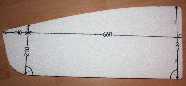 Measurements on the Styrofoam template for the bullitt side panels