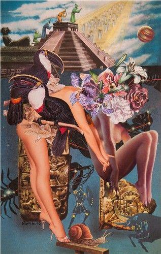 Mauricio Garrido - Come -  collage 11¾ x 7¾ ins (30.00 x 19.51 cms)
