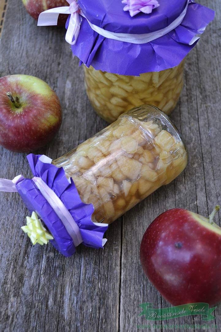Mere  Conservate pentru Prajituri.Cum conservam merele pentru prajituri.Mere la borcan pentru strudele.Conserva de mere fara conservanti.