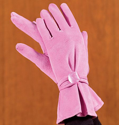 pink elegant gloves, love the shapes
