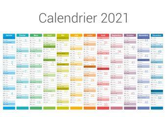 Format A3   Calendrier 2021 pour entreprise avec logo sur 12 mois