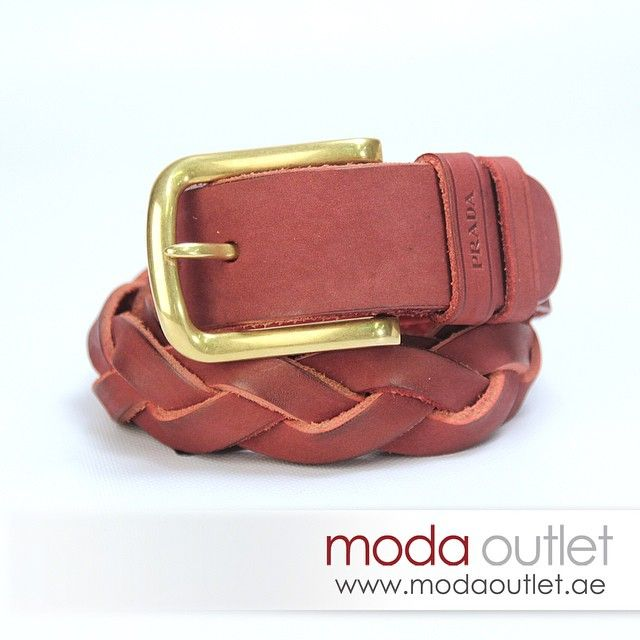 New Arrival PRADA BELT, AED 890 at Moda Outlet.  #uae #dubai #fashion #دبي #الامارات www.modahouse.com