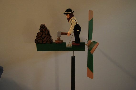 Wild Action Whirligigs Amish Wood Chopper FREE by Henryscrafts, $150.00
