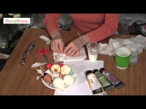 How to makeChristmas spun-cotton ornaments. Tutorials/ Как сделать ёлочную игрушку из ваты. Мастер-класс | Самоделки. Елочные игрушки из ваты. Ватные игрушки