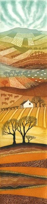 Rebecca Vincent - etchings. Love her work and I have two...