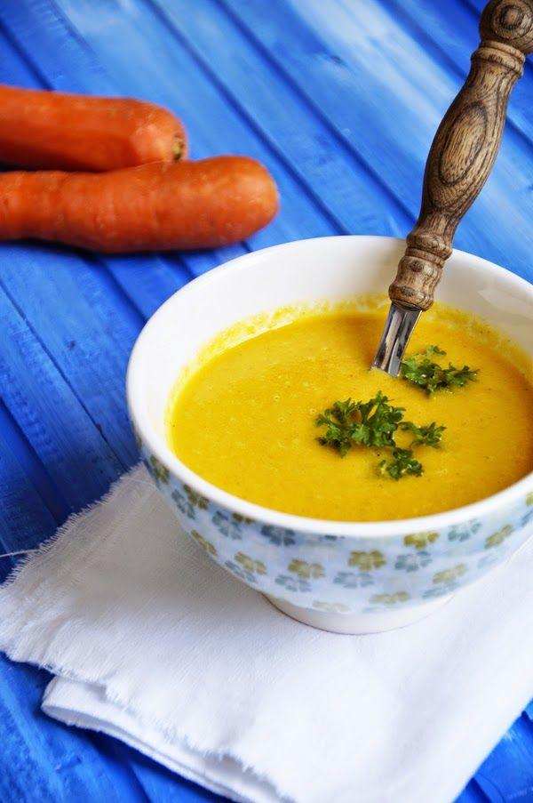 Vegane Suppe: Möhrensuppe mit Ingwer und Kokosmilch http://spoonandkey.blogspot.de/