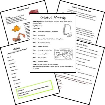writing course - free printables 6th-7th grade