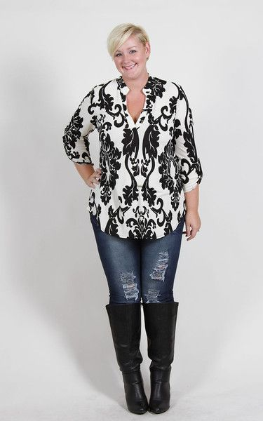Plus Size Clothing for Women - Jessica Kane Printed Tunic (Sizes 16 - 24) - Society+ - Society Plus - Buy Online Now!