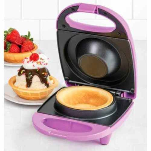 Decorative-Waffle-Bowl-Maker-Ice-cream-sundaes-eatable-cup-fun-design-Non-stick