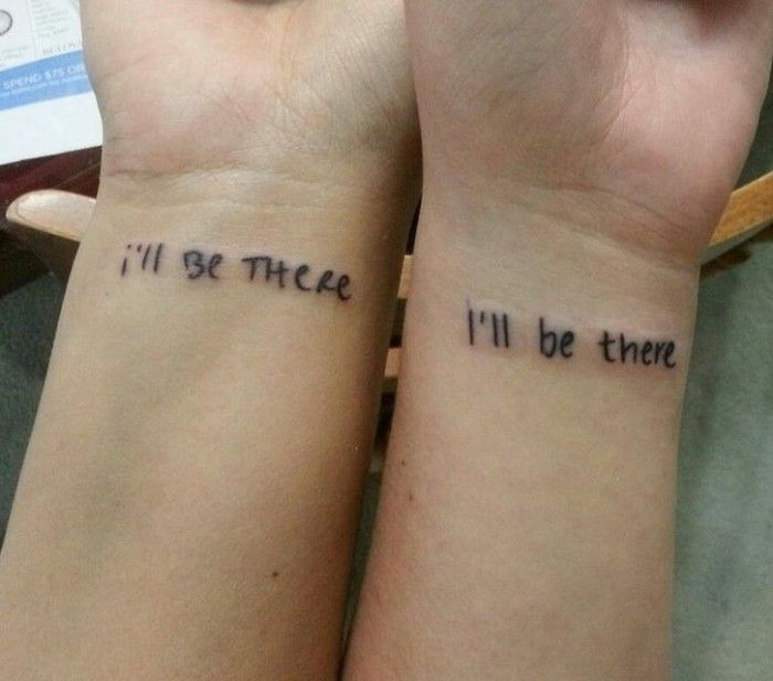▷ 1001 + ideas for best friend tattoos to celebrate your friendship with