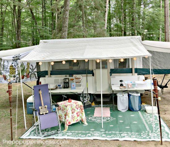 Outdoor Pop Up Camper Setup
