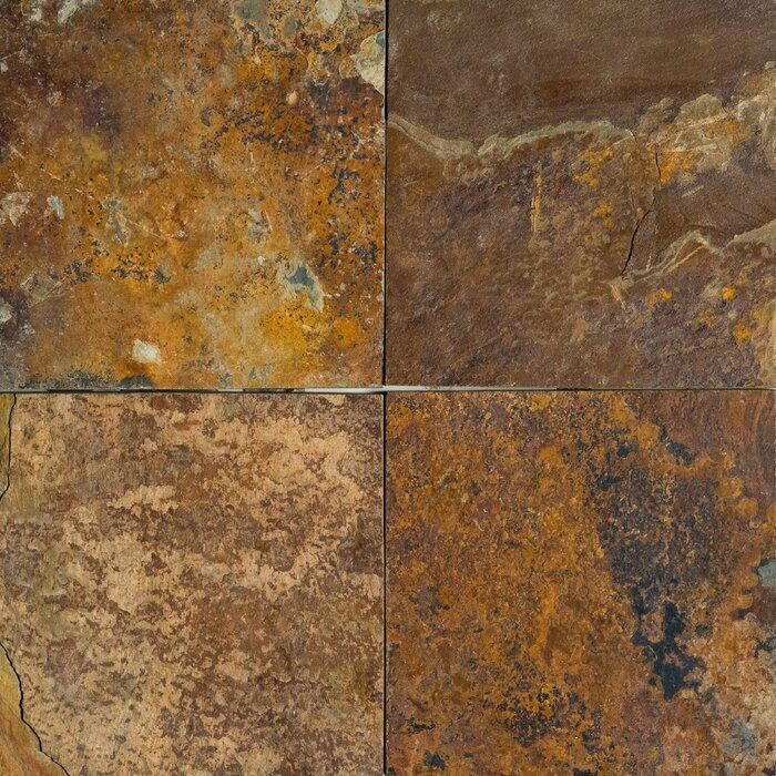 Natural Cleft Face Gauged Back 12x12 Slate Field Tile Stone Tiles Slate Wall Tiles Stone Mosaic Tile