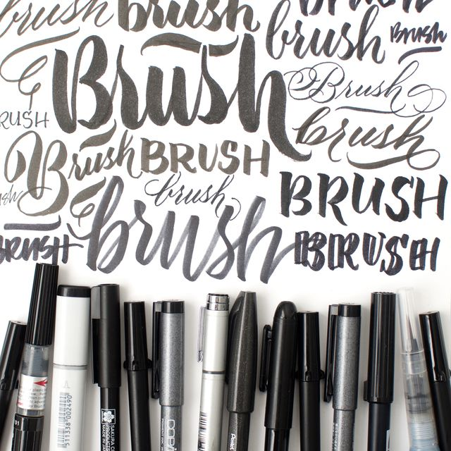 beginning brush kit class- Calligraphy Brush Marker Online Workshop