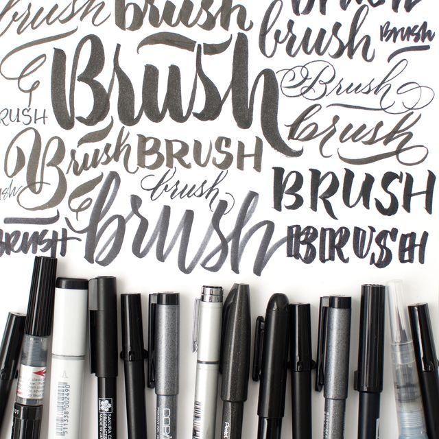 beginning brush kit class- Calligraphy Brush Marker Online Workshop