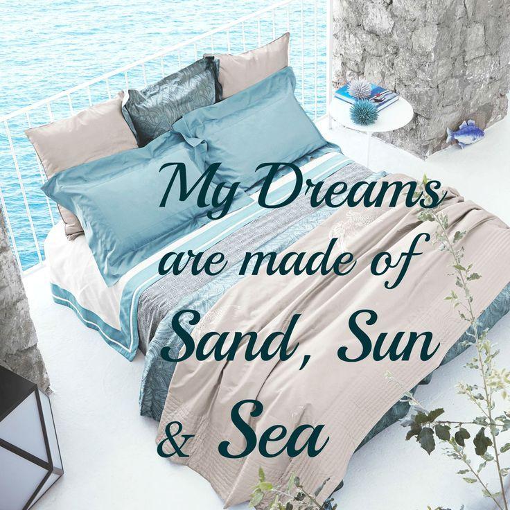 My dreams are made of sand, sun and sea. Bedding by Frette -Sea: http://www.frette.com/sea