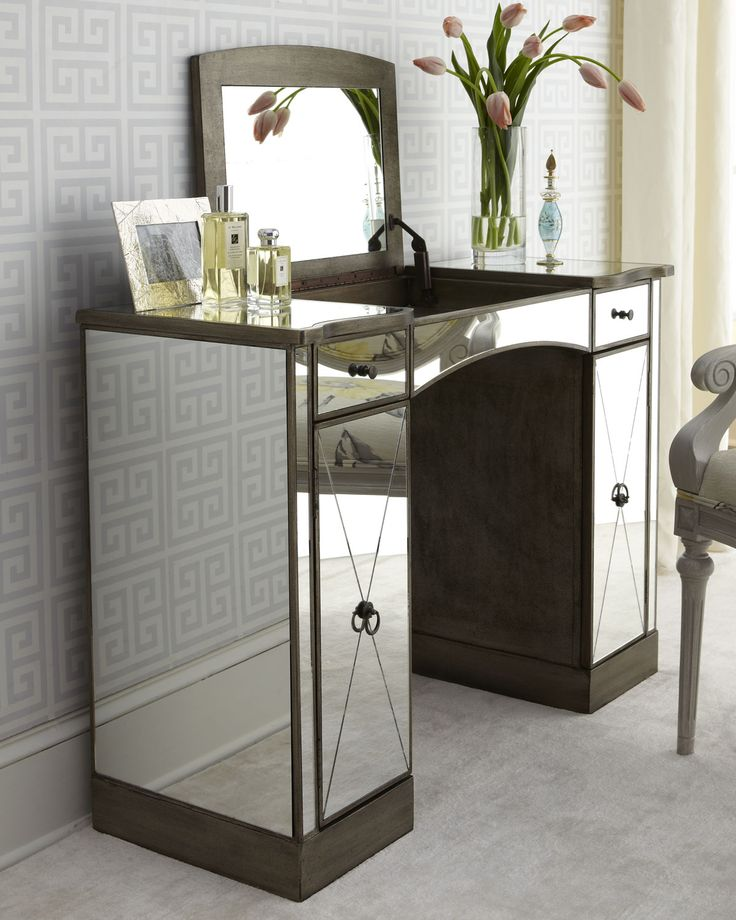 mirrored furniture vanity. storage furniture laria vanity i horchow mirrored make up dressing table lift top