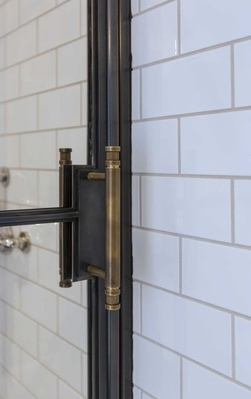 shower. door handle hardware.