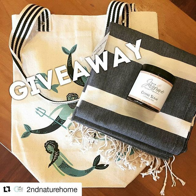 G I V E A W A Y  #Repost @2ndnaturehome  Enter to win this lovely spring bundle with a gorgeous Turkish towel from @pokolokoltd (value $42) delectable Coffee Scrub by @wildjasmineapothecary (value $15-4oz) all in a mermaid tote by @danica_studio. Easy peasy to enter: 1. Follow @2ndnaturehome @pokolokoltd and @wildjasmineapothecary On Instagram (or Facebook). 2. Like post. 3. Tag 2 friends in this post who might love a chance to win too. Winner will be announced next Friday. #contest…