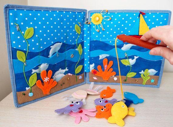 Magnético de pesca gamepad libro tranquila por CuteGiftsAndCrafts