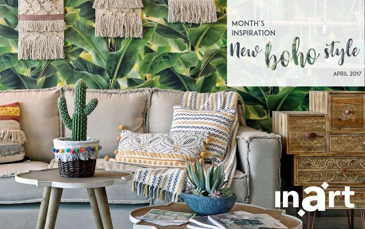April's inspiration is… new boho style! Cool, cozy and carefree, it is the best choice to adopt if you want a totally new home style for spring. Find out how to recreate the look here http://www.inart.com/en/blog/months_inspiration-april_new_boho_style.html