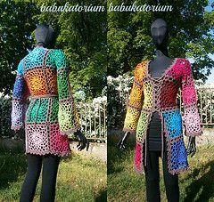 Ravelry: babukatorium's Crochet Cardigan - Lacy Granny Square With Flower Center