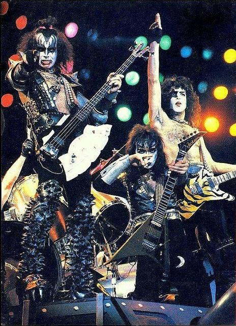 1982, KISS: Gene Simmons, Vinnie Vincent, Paul Stanley