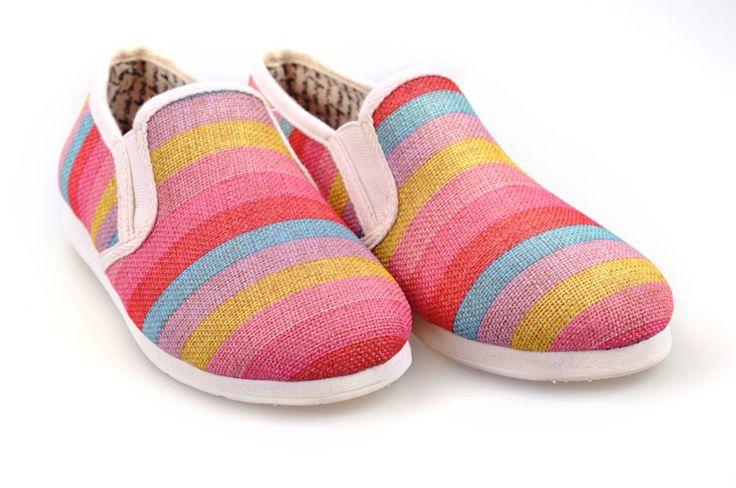Toms Classic women shoes colour stripe