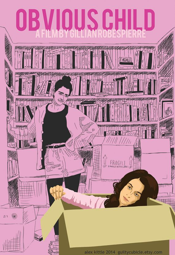 OBVIOUS CHILD (2014) - Movie Poster by Alex Kittle aka guiltycubicle on Etsy
