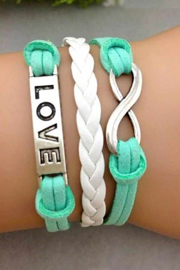 """LOVE"" AND INFINITY ARM BRACELET"