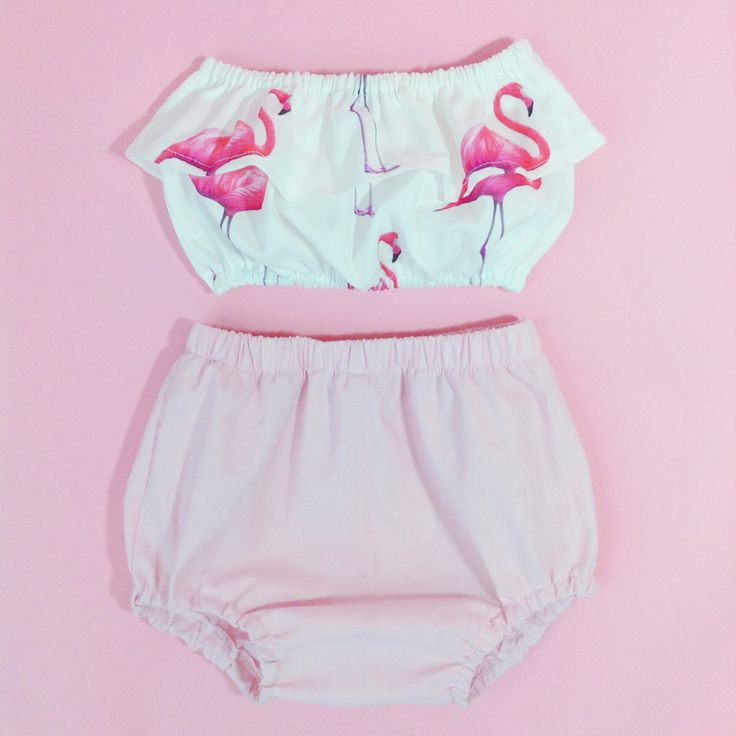 Flamingo top & bubblegum high waisted bloomers Wildheartsco.com