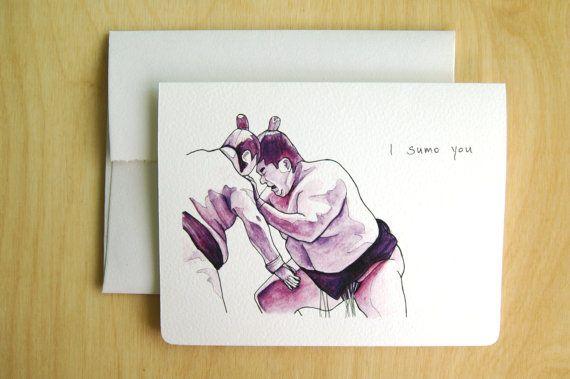 no.02 Purple Sumo card, Lichia Liu, www.gotamago.etsy.com