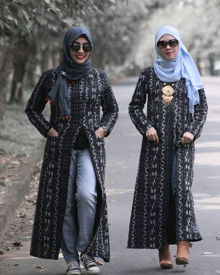 Handwoven Ikat (Tenun) Outer Abaya
