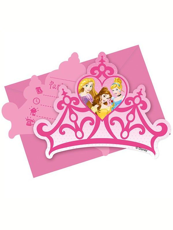 Disney Princess Storybook Party Invitations & Envelopes 6pk from Tiger Feet Party