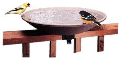 Non Heated Bird Bath with Ez Tilt Deck Mount contemporary bird baths