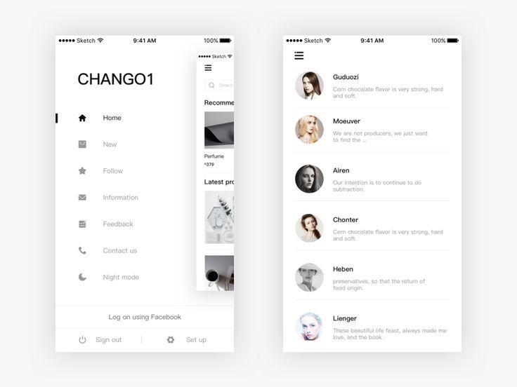 Store application design by gengchang #Design Popular #Dribbble #shots