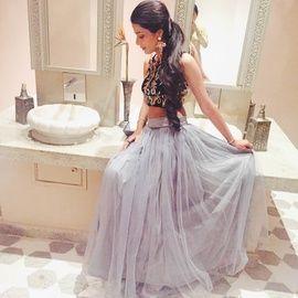 Engagement/ Sangeet - Outfits, Indian wedding, Mehendi outfit, Sangeet function, Crop to and skirt, Designer Sonia J Sahni, Delhi/Gurgaon, Bridal , Delhi Bride