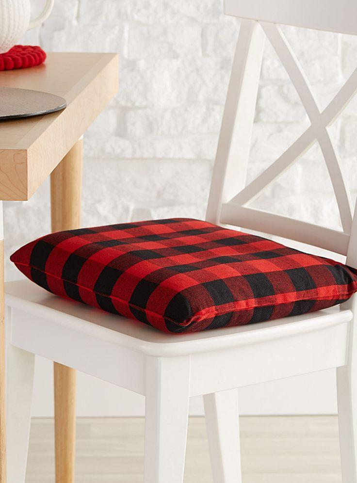 Buffalo Check Seat Cushion