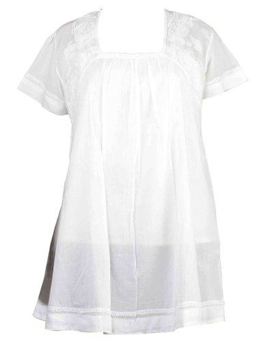 White Summer Fashion Tops for Women Indian Clothes Embroidered Kurta (XL/42) ShalinIndia http://www.amazon.in/dp/B008EI5V9K/ref=cm_sw_r_pi_dp_D-00tb1HYQ629E0Z