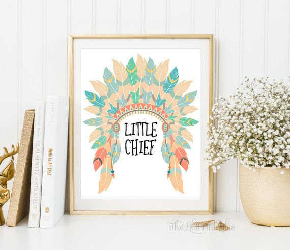❣ Please check our announcements tab for coupon codes! ❣  Little Chief Native American Headdress Printable  ❥ No physical item will be shipped