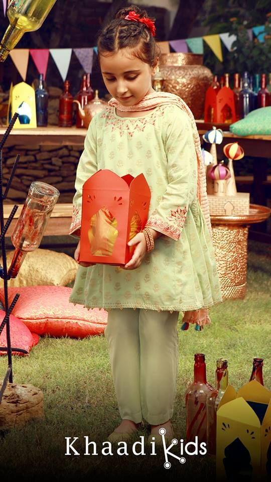 75611230a0f1 Khaadi Khaas Traditional Kids Wear Eid Collection 2018