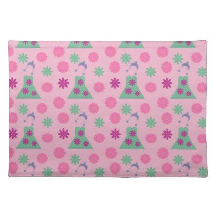 green dress pink placemat - decor gifts diy home & living cyo giftidea