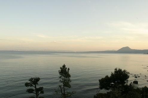 夕暮れ時の別府湾。あまりの美しさに思わず出るため息。